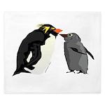 Rockhopper Penguin Mom and Baby Chick King Duvet