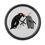 Rockhopper Penguin Mom and Baby Chick Large Wall C