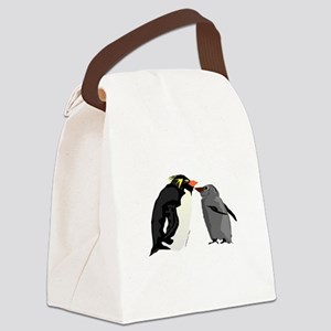 Rockhopper Penguin Mom and Baby Chick Canvas Lunch