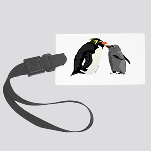 Rockhopper Penguin Mom and Baby Chick Luggage Tag