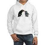Rockhopper Penguin Mom and Baby Chick Hoodie