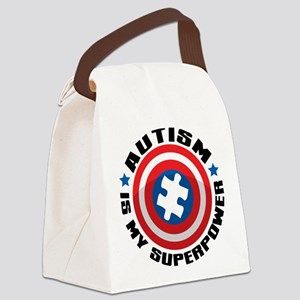 Autism Shield Canvas Lunch Bag