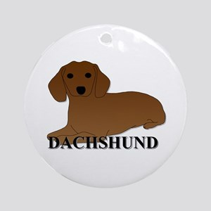 Cartoon Dachshund Ornament (Round)