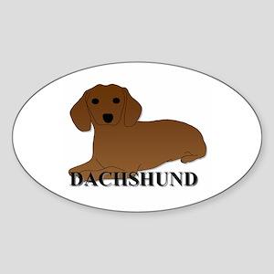 Cartoon Dachshund Sticker (Oval)