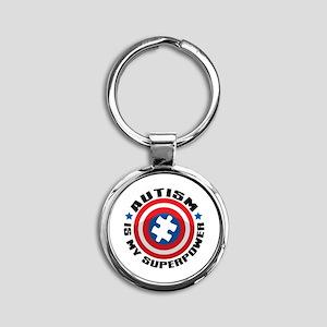 Autism Shield Keychains