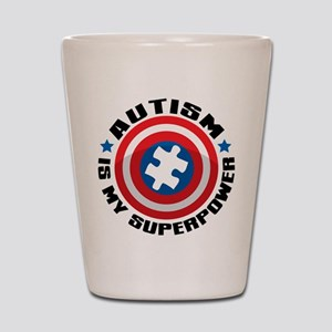 Autism Shield Shot Glass