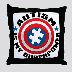 Autism Shield Throw Pillow
