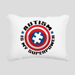 Autism Shield Rectangular Canvas Pillow