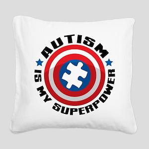 Autism Shield Square Canvas Pillow