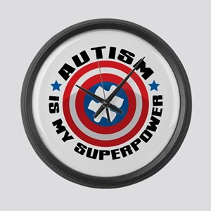 Autism Shield Large Wall Clock