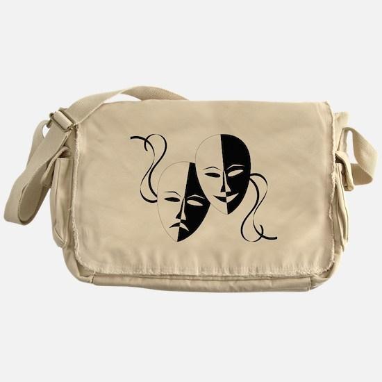 Theater Masks Messenger Bag