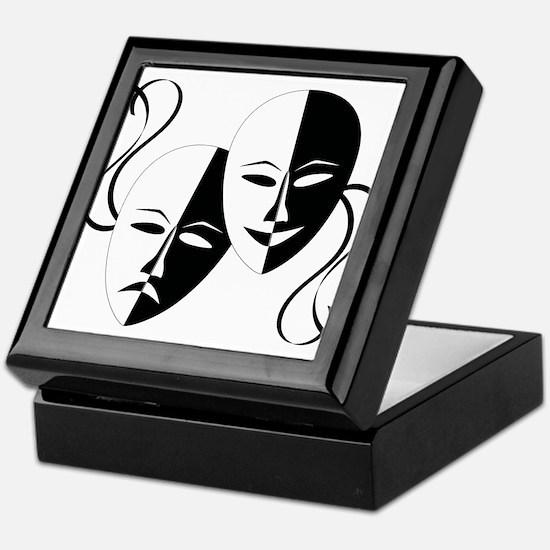 Theater Masks Keepsake Box