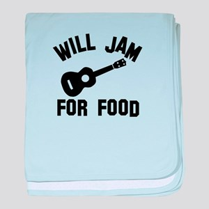 Will jam or play the Ukelele for food baby blanket