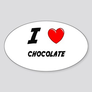 CHOCOLATE Oval Sticker