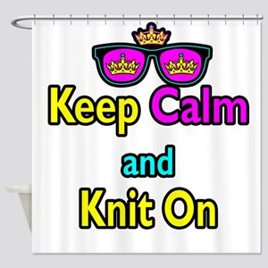 Crown Sunglasses Keep Calm And Knit On Shower Curt