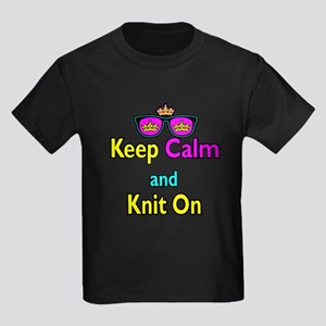 Crown Sunglasses Keep Calm And Knit On Kids Dark T