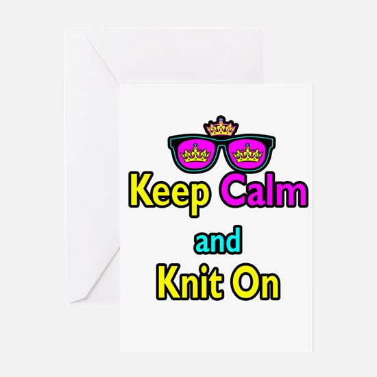 Crown Sunglasses Keep Calm And Knit On Greeting Ca