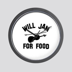 Will jam or play the Viola for food Wall Clock