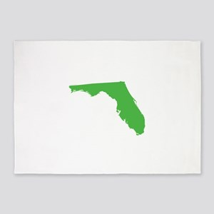 Florida State Shape Outline 5'x7'Area Rug