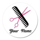 Occupations personalization beauty Round Car Magnets