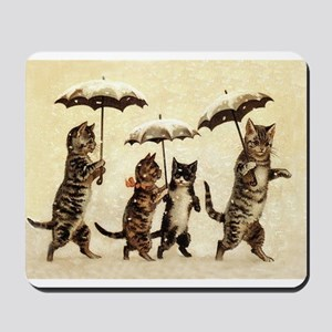 Cats, Vintage Painting Mousepad