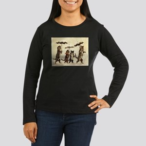 Cats, Vintage Painting Long Sleeve T-Shirt