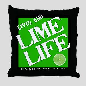 Livin' the Lime Life Logo Throw Pillow