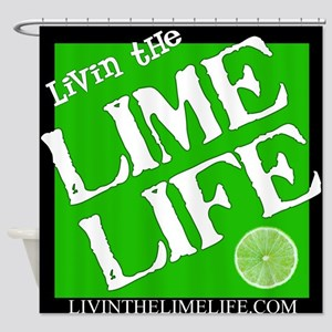 Livin' the Lime Life Logo Shower Curtain
