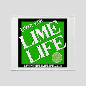 Livin' the Lime Life Logo Throw Blanket