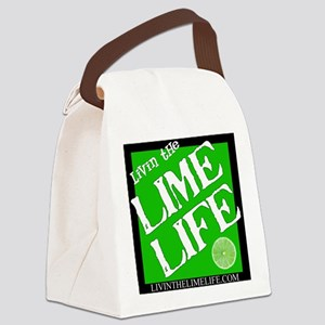 Livin' the Lime Life Logo Canvas Lunch Bag