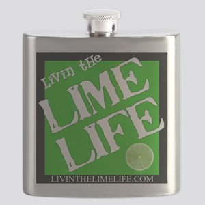 Livin' the Lime Life Logo Flask