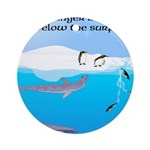 Leopard Seal Penguins and Ice Ornament (Round)