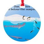 Leopard Seal Penguins and Ice Ornament