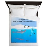 Leopard Seal Penguins and Ice Queen Duvet