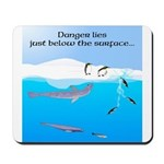 Leopard Seal Penguins and Ice Mousepad