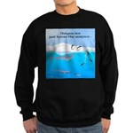 Leopard Seal Penguins and Ice Sweatshirt
