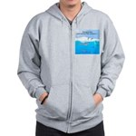 Leopard Seal Penguins and Ice Zip Hoodie