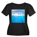 Leopard Seal Penguins and Ice Plus Size T-Shirt