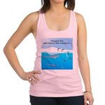 Leopard Seal Penguins and Ice Racerback Tank Top
