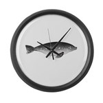 Weddell Seal Swimming Large Wall Clock