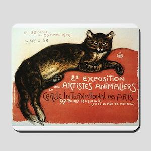 Cat, Steinlen, Vintage Poster Mousepad
