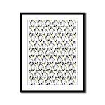 Penguin Pattern 1 Framed Panel Print