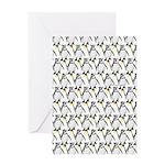 Penguin Pattern 1 Greeting Card