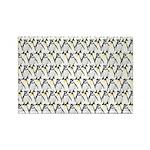 Penguin Pattern 1 Rectangle Magnet (100 pack)