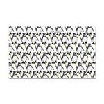 Penguin Pattern 1 Rectangle Car Magnet