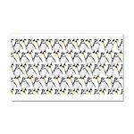 Penguin Pattern 1 Car Magnet 20 x 12