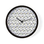 Penguin Pattern 1 Wall Clock