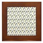 Penguin Pattern 1 Framed Tile