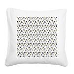Penguin Pattern 1 Square Canvas Pillow