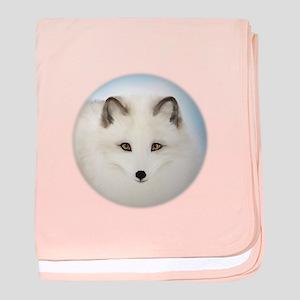 Cute Arctic Fox baby blanket